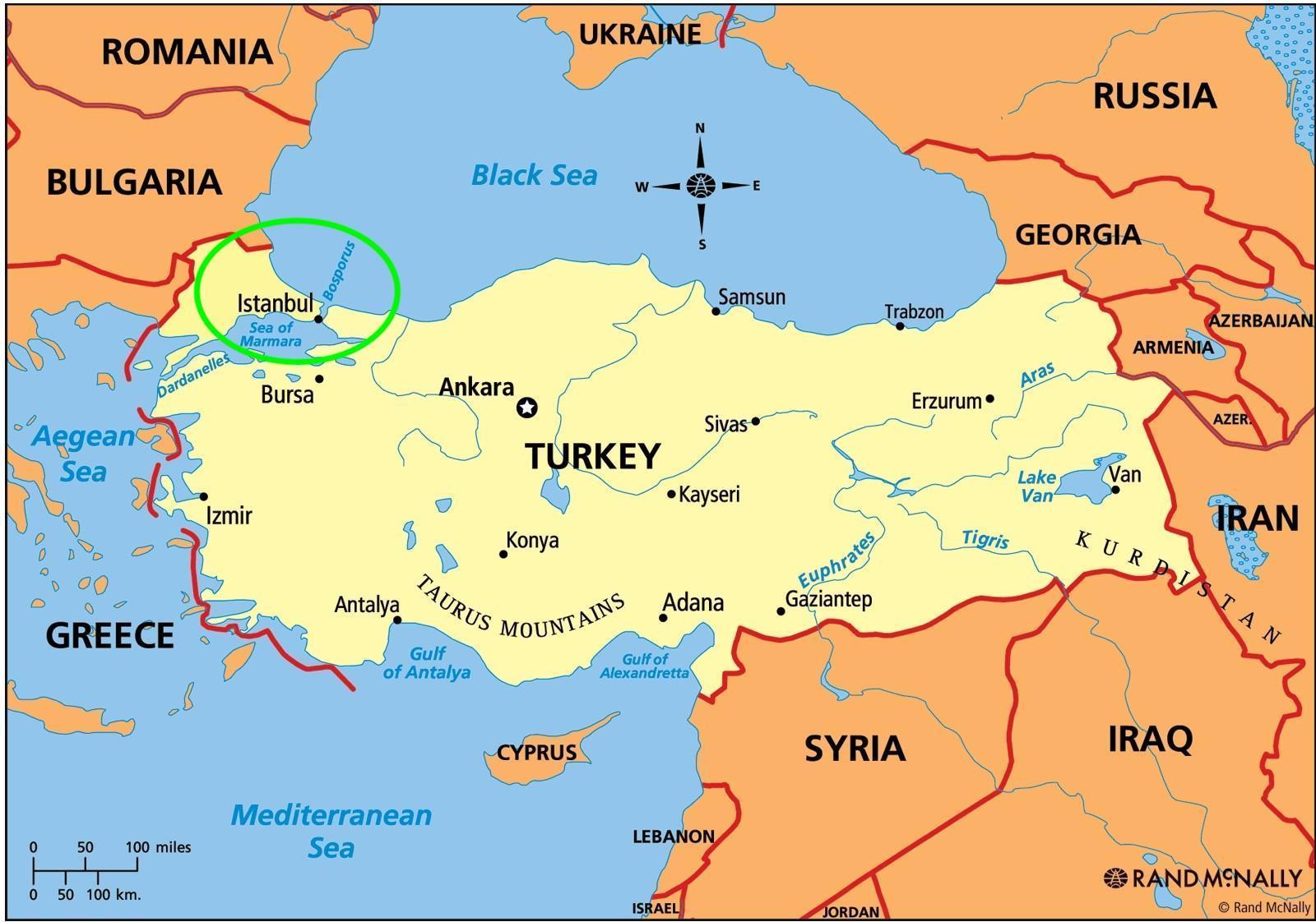 Istanbul auf der Karte - Istanbul Lage auf der Karte (Türkei)