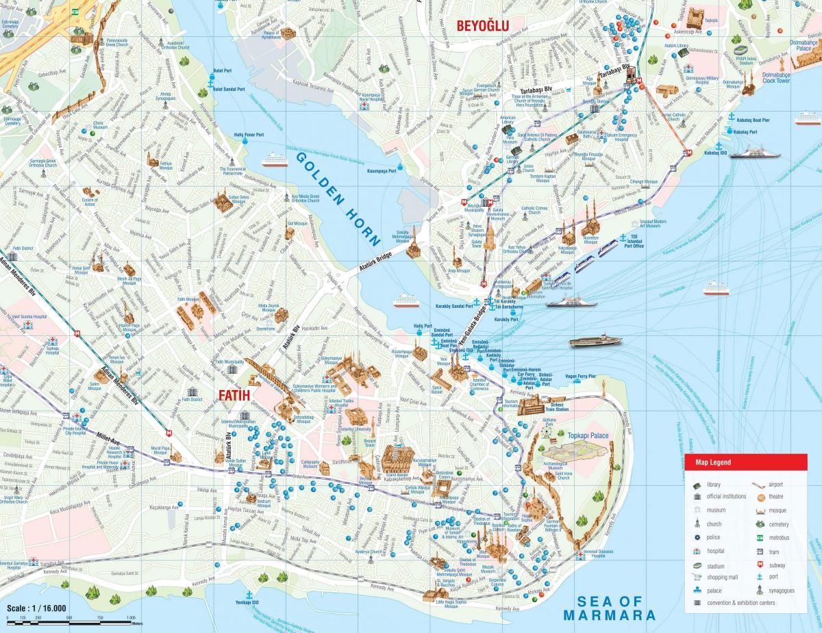 Karte Anzeigen.Fatih Istanbul Karte Istanbul Fatih Karte Turkei